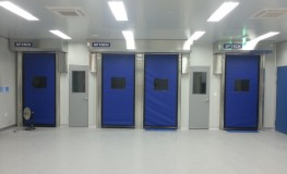 Automatic recovery type high-speed automatic door (using blue sheet)