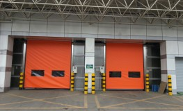 Automatic recovery type high-speed automatic door (Orange sheet is used)